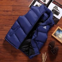 ADIDAS autumn and winter new trend warm vest winter down jacket Blue