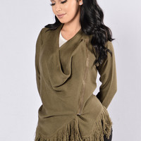 Frigid Air Sweater - Olive
