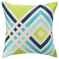 Los Olivos Embroidered Pillow