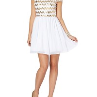 Chevron Sequined Party Dress