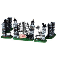 Lemax® Spooky Town® Collection Spooky Iron Gate & Fence