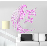 Vinyl Wall Decal Unicorn Fantasy Myth Girl Room Stickers Mural Unique Gift (ig3468)