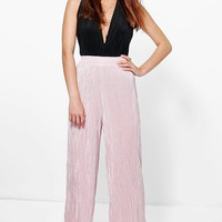 Ruby Pleated Wide Leg Cropped Culottes