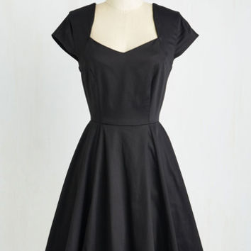 Mid-length Short Sleeves Fit & Flare When in Monochrome Dress