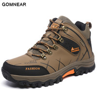 GOMNEAR New Trend Autumn And Big Size Winter HIking shoes Breathable Outdoor Waterproof Hunting antiskid tourism Trend sneakers