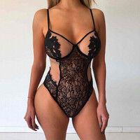 Lace One Piece Bodysuit Lingerie 10907