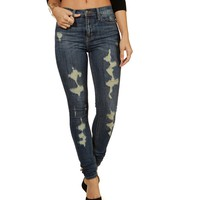 Denim Distressed Out Jeans
