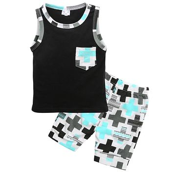 baby Boys Toddler Sleeveless Vest Tops+Pants Outfits Clothing