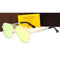 LV Women Casual Sun Shades Eyeglasses Glasses Sunglasses-8