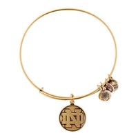 Alex and Ani University Of Notre Dame® Logo Charm Bangle - Russian Gold