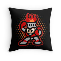 'Fireman' Throw Pillow by likelikes
