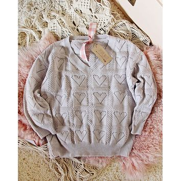 Dreamy Hearts Sweater in Putty