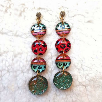 LEOPARD SKIN MIXED EARRING FOR WOMEN