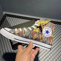 Converse x ONE PIECE joint graffiti print high-top canvas shoes