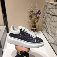 Alexander McQueen Women Men Fashion Casual Black sports shoes