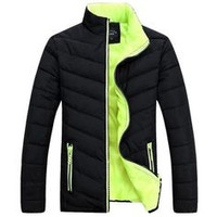 Men's Outdoor Casual Solid Cotton Slim Fit Fashion Coat