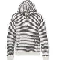 Club Monaco - Striped Loopback Cotton-Jersey Hoodie | MR PORTER