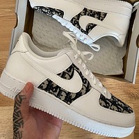 Nike Air Force 1 x Dior Knitted Air Force One Sneakers Shoes