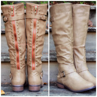 SZ 5.5 Oliver Rock Taupe Stud Boots
