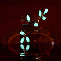 GLOW in the DARK Sterling Silver Leaves RING