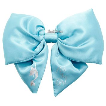 Licensed cool Disney BIG FAT PUFFY The Little Mermaid Ariel Kiss The Girl Cosplay Hair Bow Pin