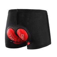 ARSUXEO Cycling Underwear MTB Mountain Bike Shorts 5D Gel Padded Compression cycling shorts for Men and Women
