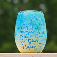 For in Dreams We Enter a World Harry Potter Wine Glass: Womping Willow Wine Glass/Tumbler