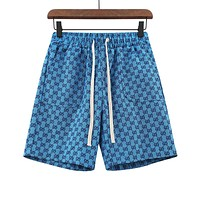 GG Multicolor Double G Loose All-match Denim Shorts