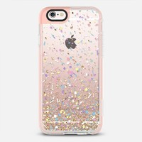 Gold Multicolor Pastel Confetti Transparent  iPhone 6s case by Organic Saturation | Casetify