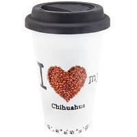 Chihuahua Profile Porcelain Travel Mug