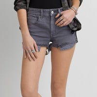AEO Denim X Hi-Rise Shortie, Medium Heather