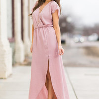 Ethereal Ease Maxi Dress, Pink