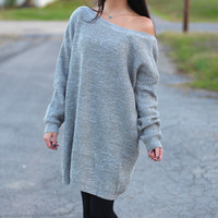 Slouchy Sweater Dress {Taupe}