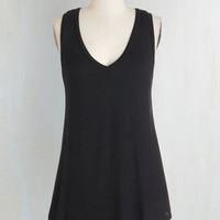 Athletic Long Sleeveless Endless Possibilities Top in Black