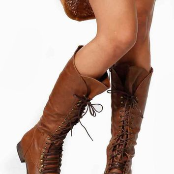Breckelles Calf Lace Up Taupe Boots @ Cicihot Boots Catalog:women's winter boots,leather thigh high boots,black platform knee high boots,over the knee boots,Go Go boots,cowgirl boots,gladiator boots,womens dress boots,skirt boots.