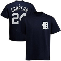Miguel Cabrera Detroit Tigers #24 MLB Youth Name & Number Player T-shirt Navy (Youth Large 14/16)