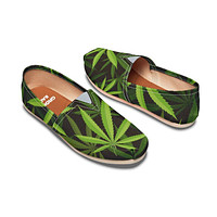 Cannabis Pattern Casual Shoes-Clearance
