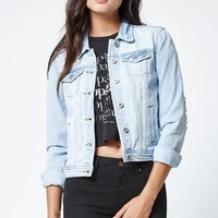 Bullhead Denim Co. Ripped Denim Jacket - Womens Jacket - Blue