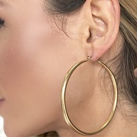Knockout Golden Hoop Earrings