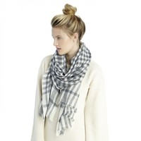 Sole Society Plaid Cashmere Scarf