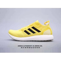 Adidas UltraBoost Popular Women Men Comfortable Breathable Sport Running Shoes Sneakers Yellow