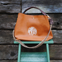 """The Ava"" Monogrammed Hobo Purse with Companion Pouch"