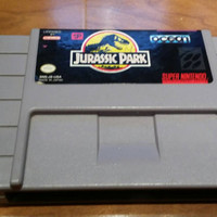 Jurassic Park Super Nintendo snes console system video game JP Jurassic world