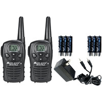 Midland 18-mile Gmrs Radio Pair Value Pack With Charger & Rechargeable Batteries