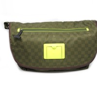 LOUIS VUITTON Damier Challenge Messenger Crossbody Bag Green N41239 9302