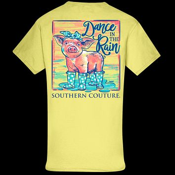 Southern Couture Classic Dance in the Rain Pig T-Shirt