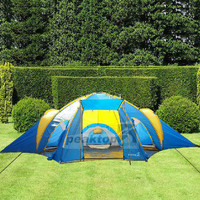 Waterproof 2000mm outdoor 3 Season 8-10 Person 3+1 Room Family Camping Tent