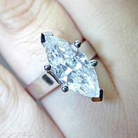 4.25ct E-VS1 Marquise Shape Diamond Engagement Ring  GIA certified JEWELFORME BLUE