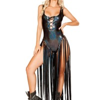 Romper With Long Fringe Rave Ware