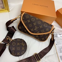 Louis Vuitton LV Monogram Crossbody Shoulder Bag Set
